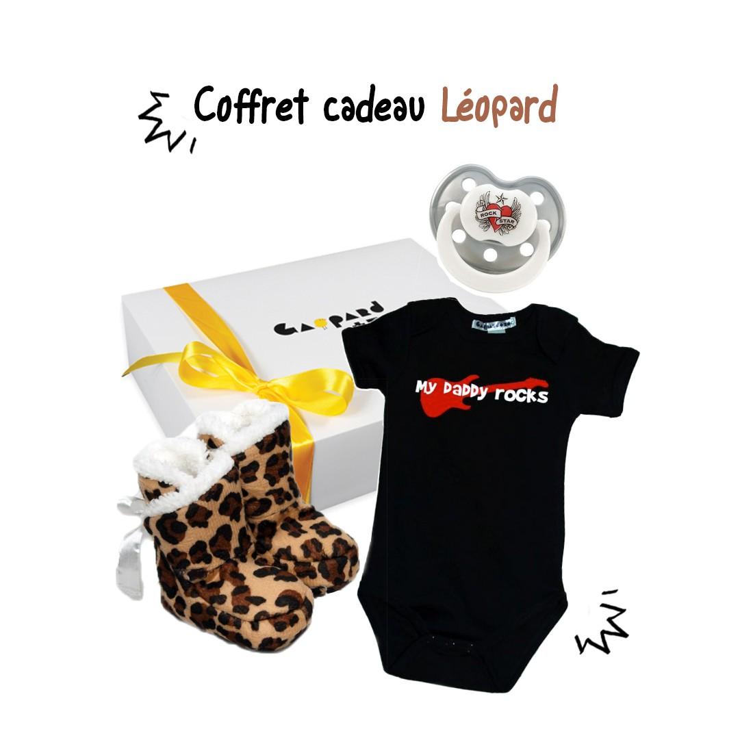 Pack cadeau bébé original LEOPARD