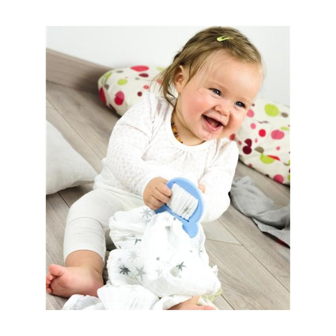 anneau de dentition pour attacher lange bébé