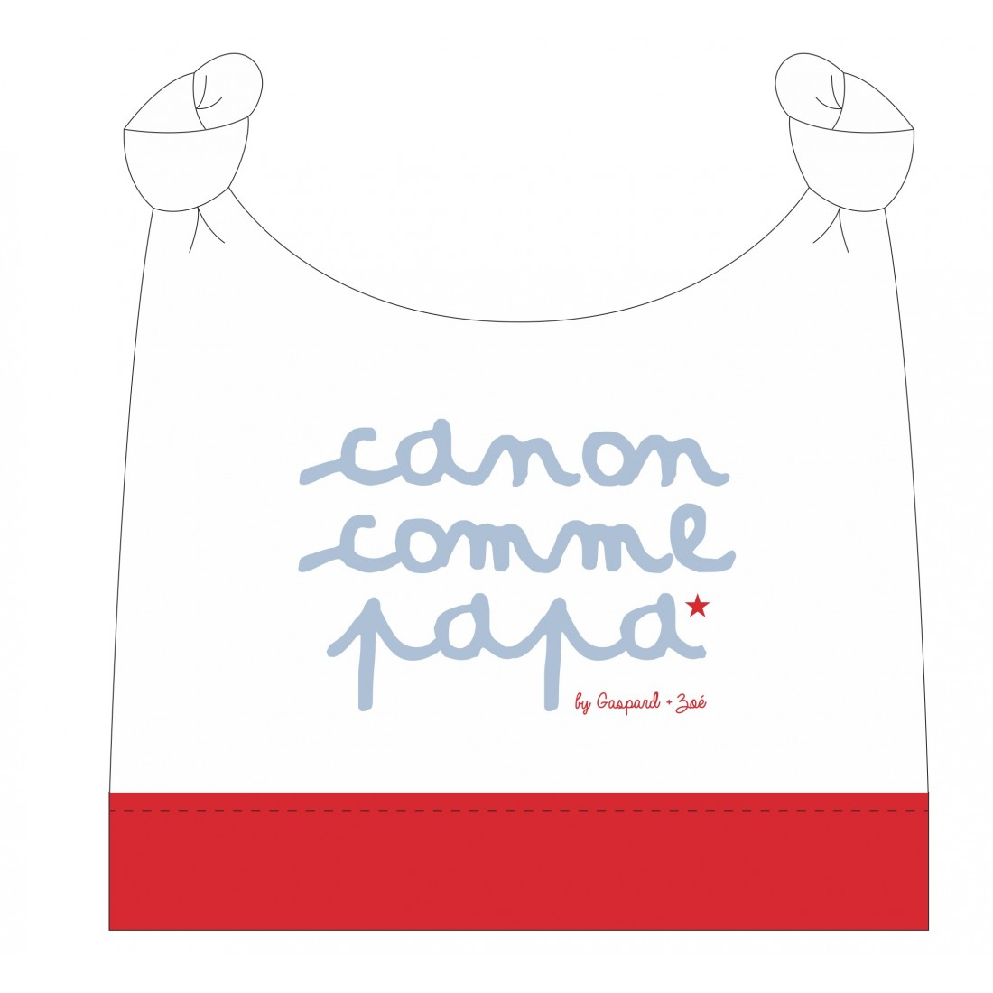 Bonnet de naissance CANON COMME PAPA