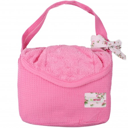 cape de bain chat rose fuschia