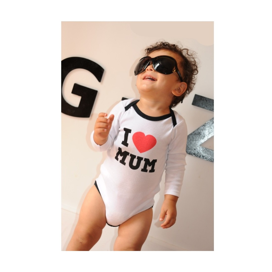 Body bébé rock - I love Mum