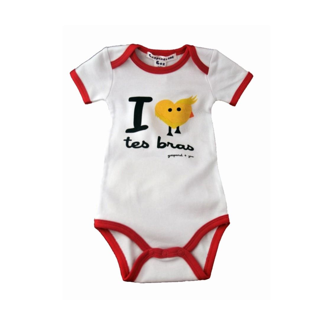Body bébé message - J'aime tes bras
