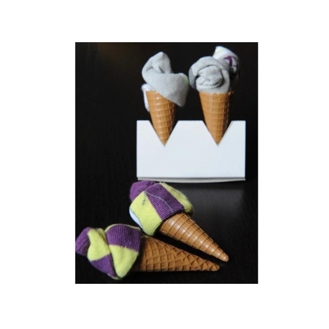 Coffret cadeau bébé -2 paires de chaussettes - Baby Ice Cream