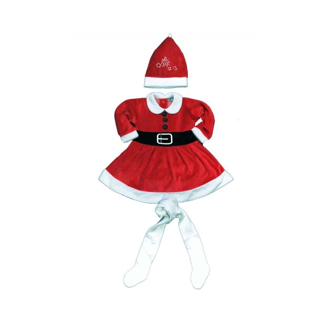 Vêtement de noel bébé fille - ensemble bébé original Miss Santa