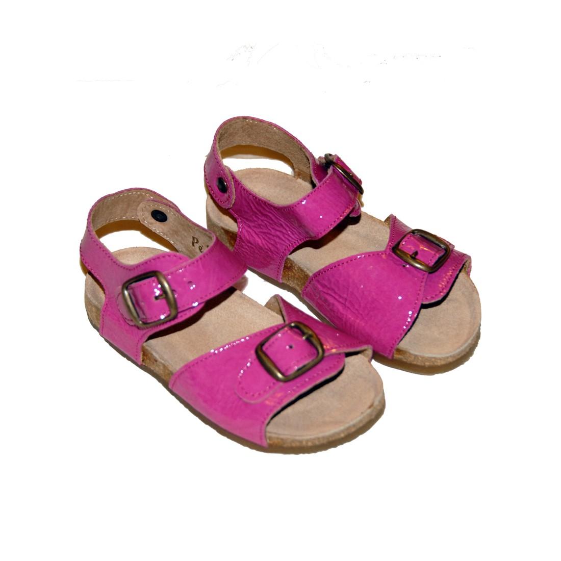 Nu-pieds sandales bébé fille Pèpè - Rose Vernice