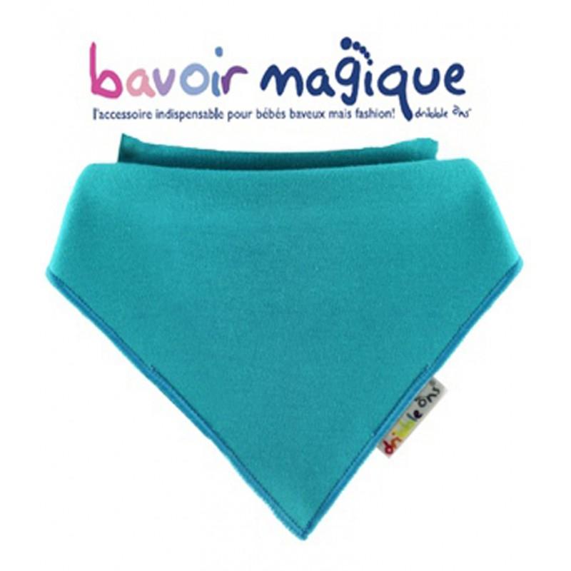 Bavoir - Bandana pour bébés baveux -  bavoir magique - Turquoise