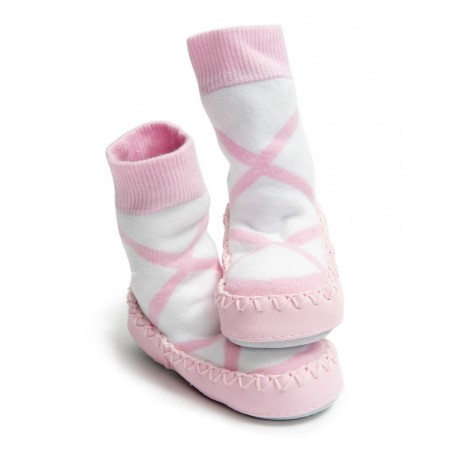 Chaussons bébé fille rose