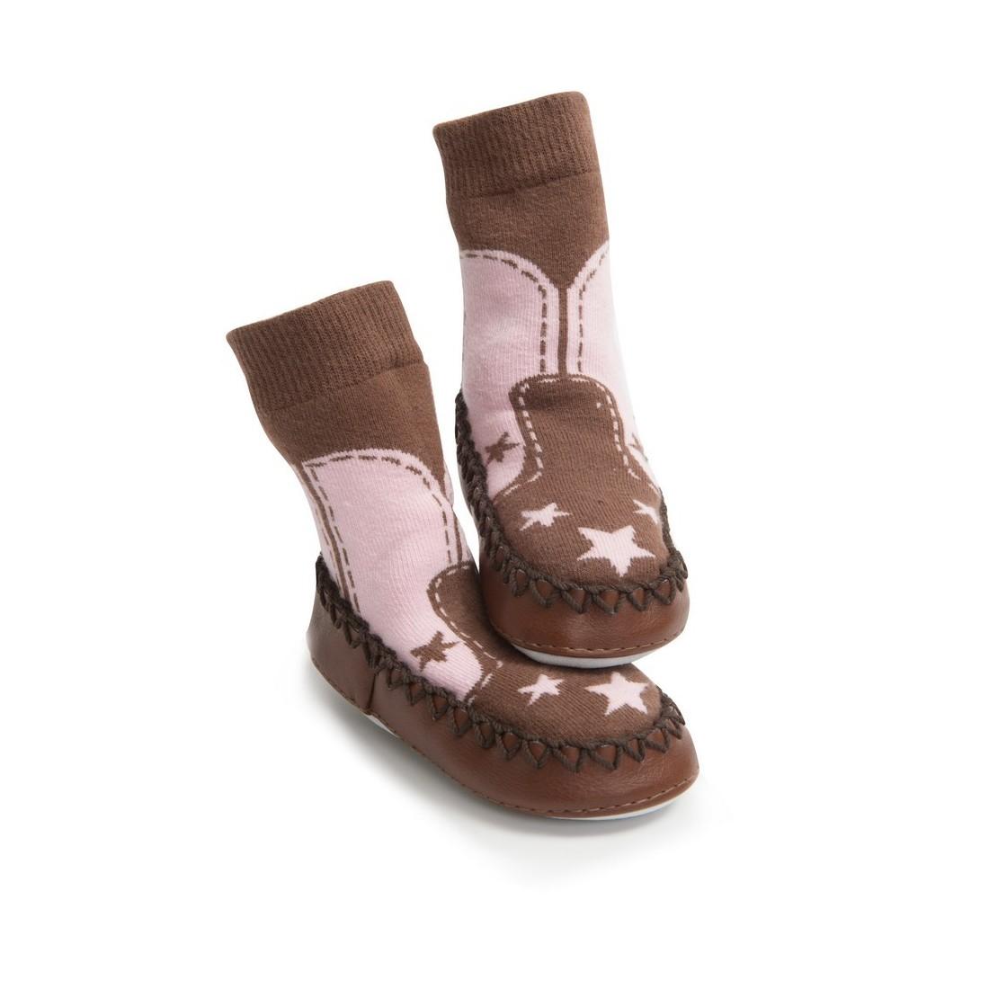 Chaussons bébé en cuir fille
