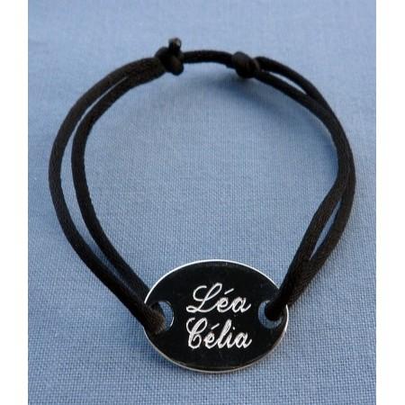 Bracelet cordon et médaille à personnaliser