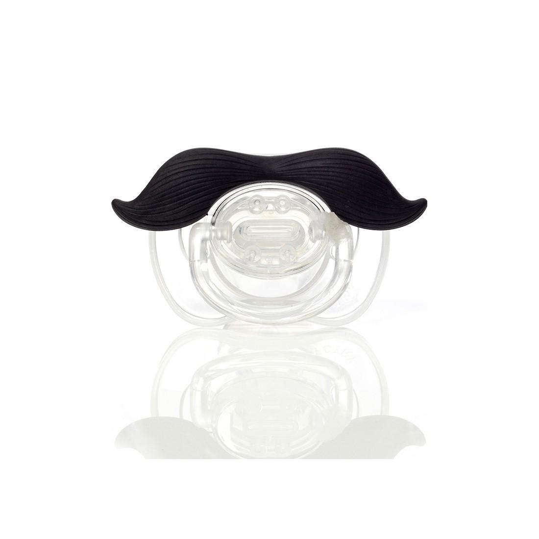 Tétine moustache gentleman