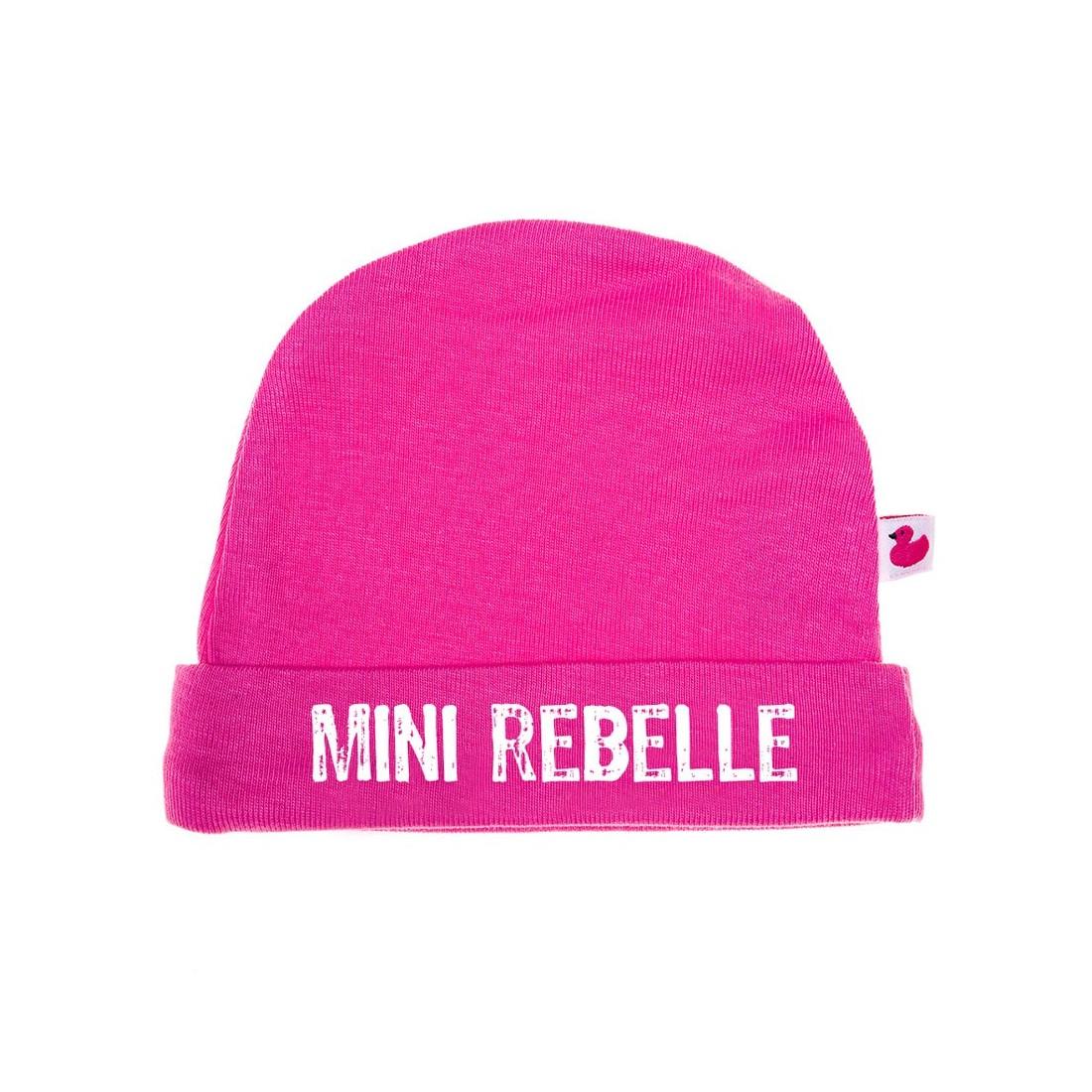 Bonnet de naissance fille original - Rebelle