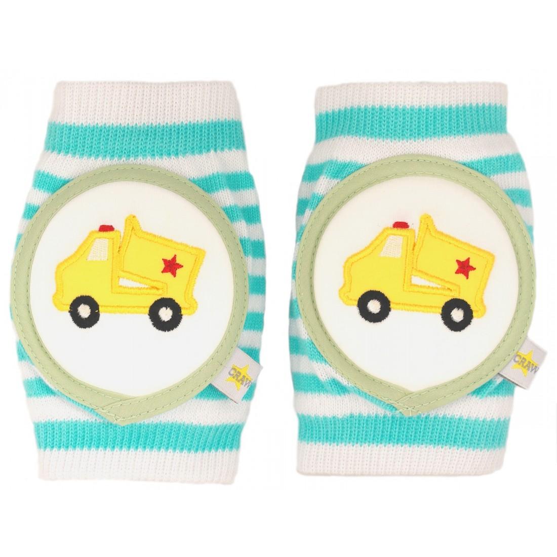 Protèges genoux bébé camion jaune  6 mois-4 ans