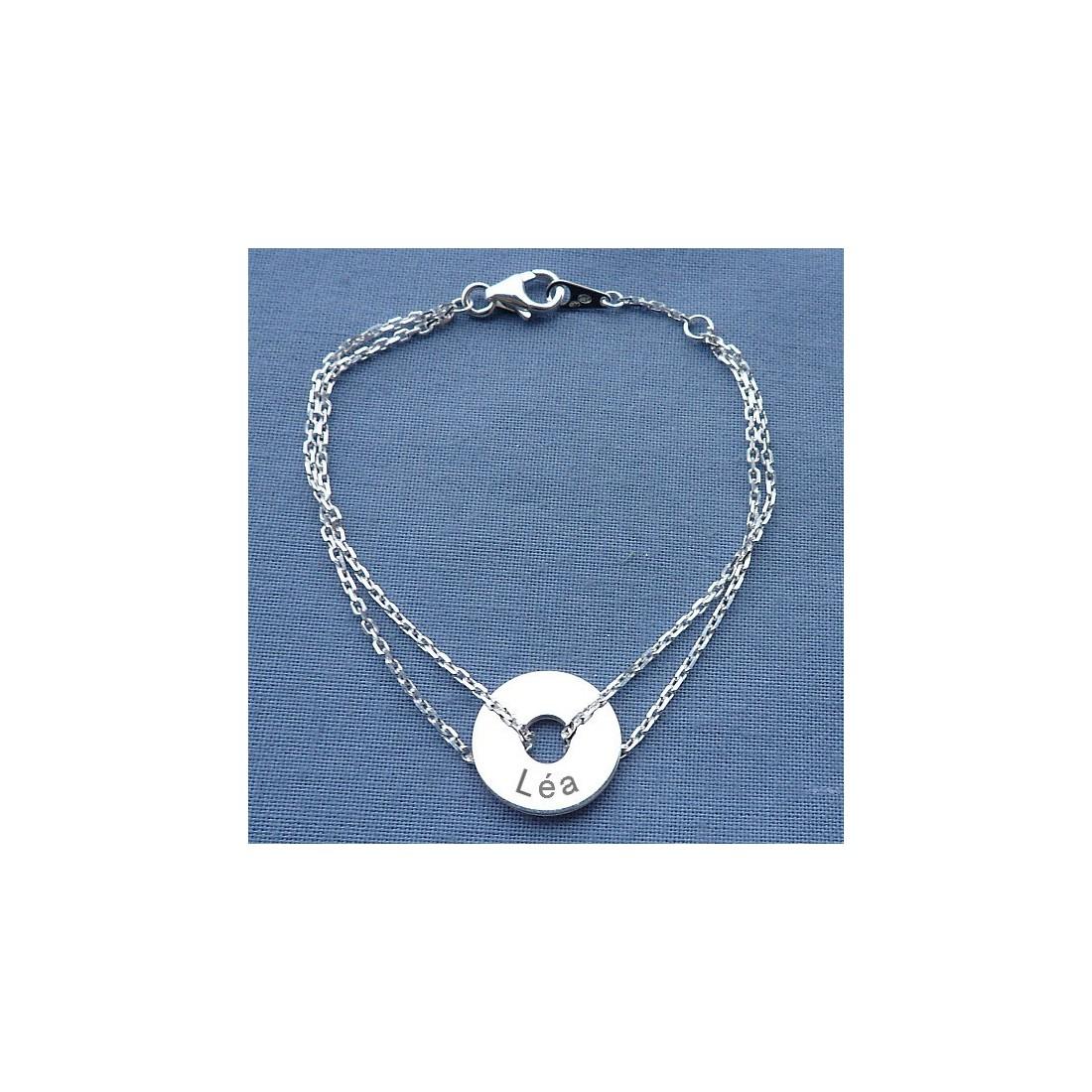 Bracelet femme avec médaille à graver