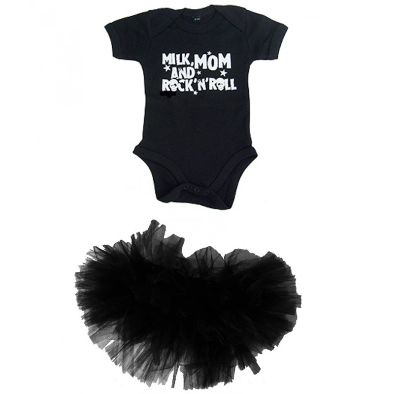 a636183564fbe vetement bebe fille rock and roll   tutu en tulle et body