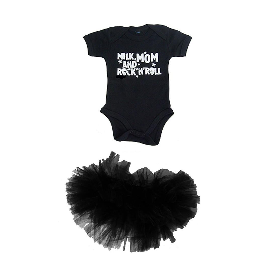 Vetement bébé fille rock - body et tutu