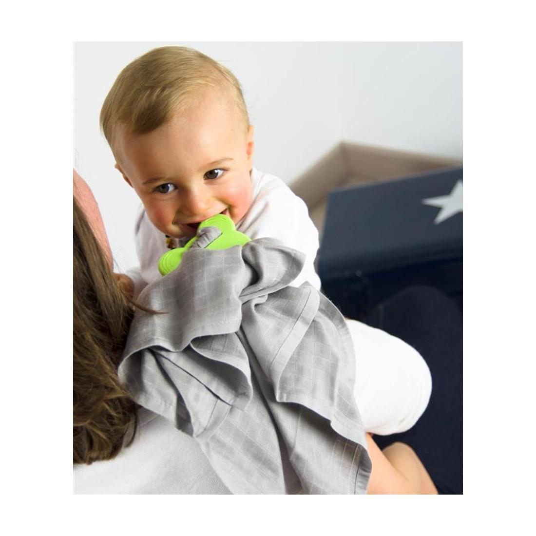 anneau de dentition et attache lange bébé