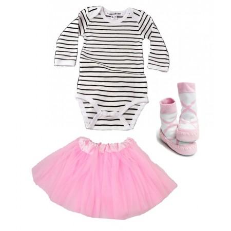 Cadeau de naissance fille - body, tutu et chaussons