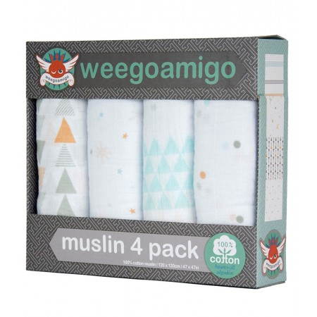 Grand lange pour bébé Weegoamigo - Pack 4 - THIS WAY