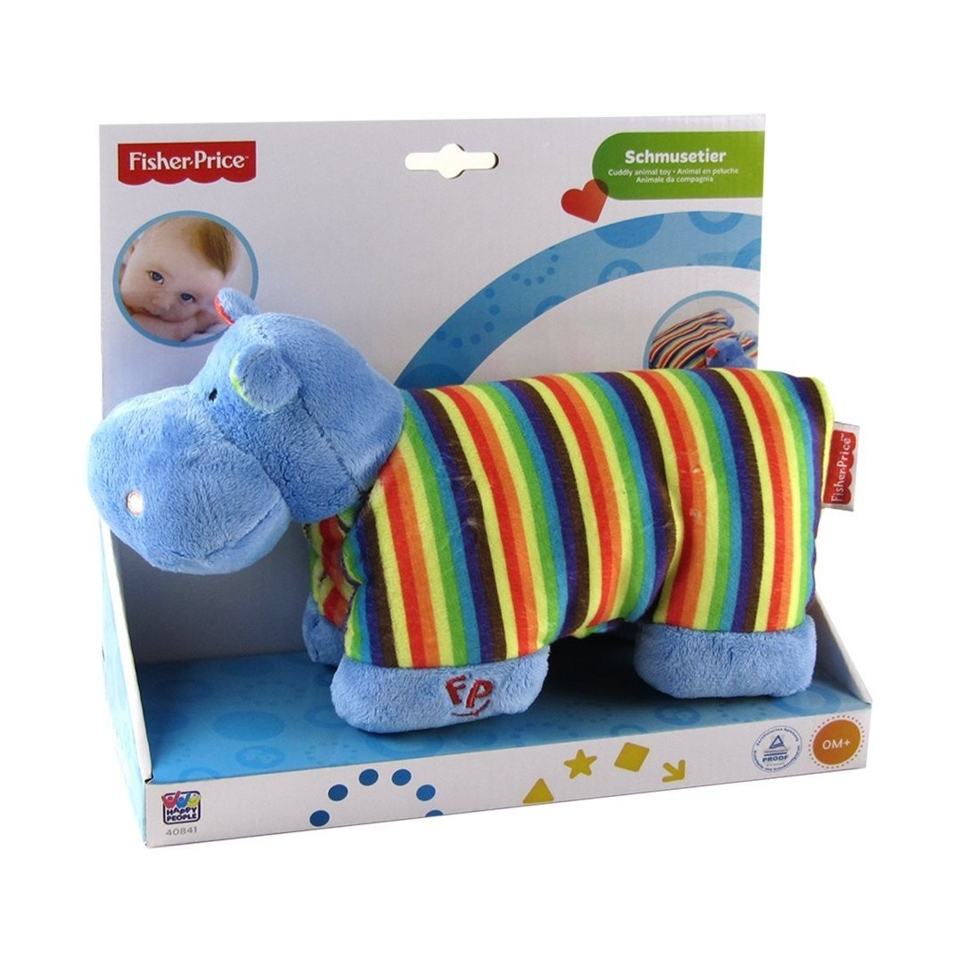 Doudou coussin hippo Fisher Price