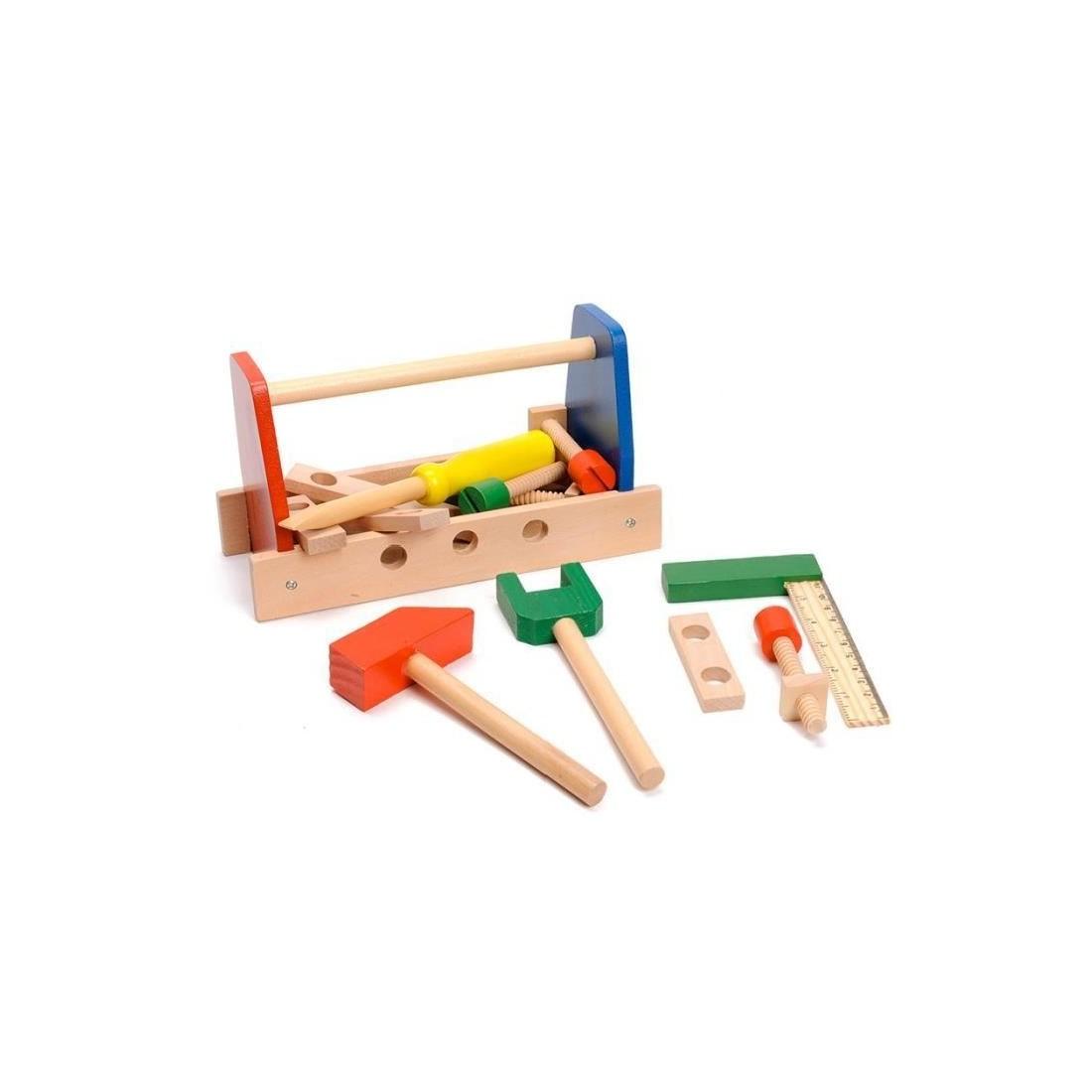 Boite à outils en bois 13 pièces