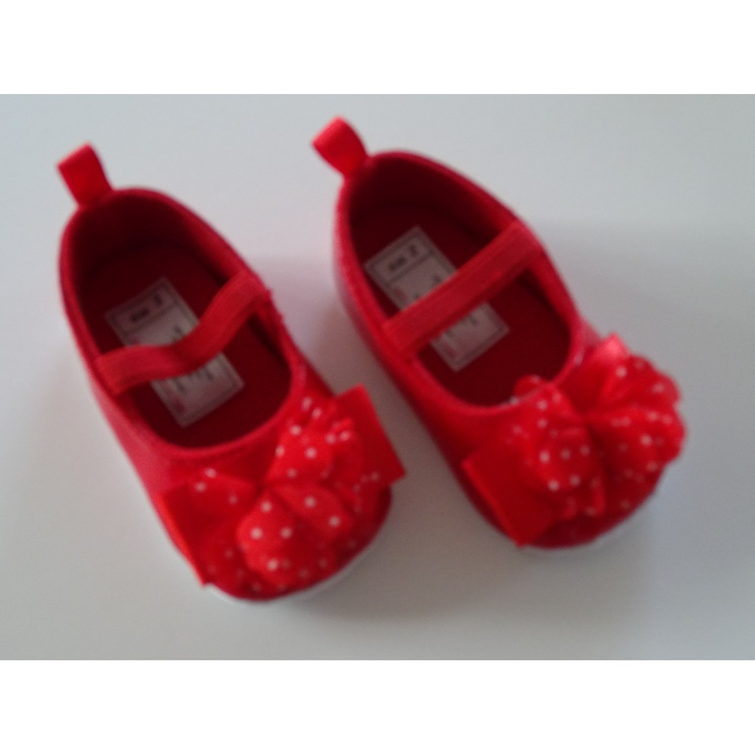 Chaussons vernis rouge rock 'n roll
