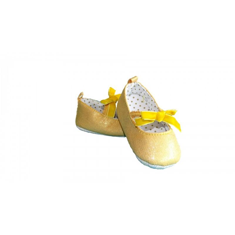 ballerine petit noeud jaune ou rouge