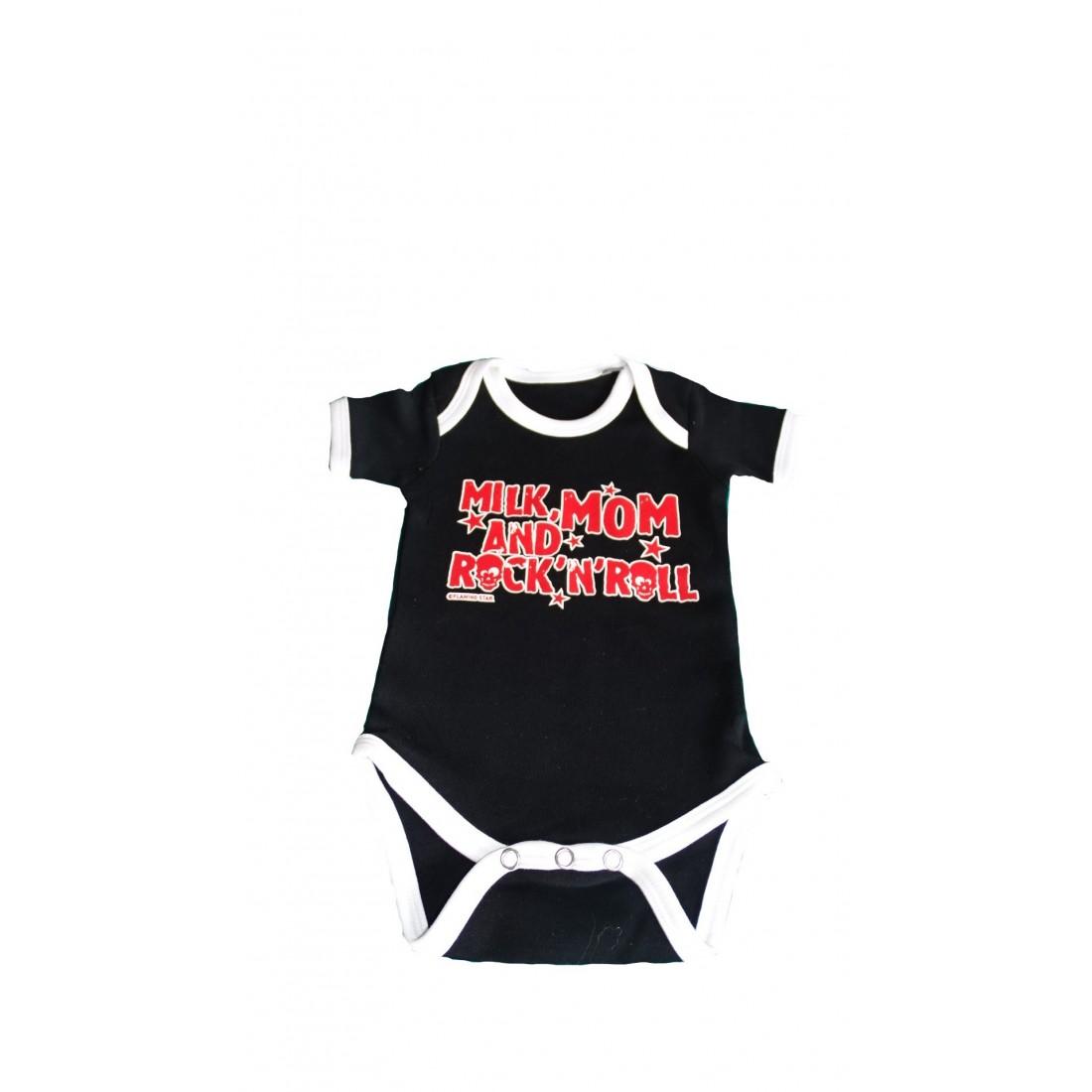 Body bébé rock noir blanc rouge