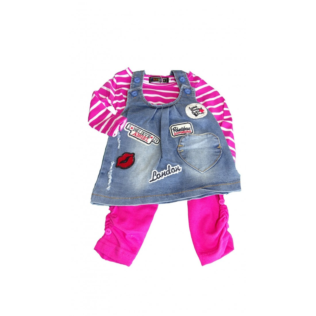 Ensemble fille robe jeans rock and plage