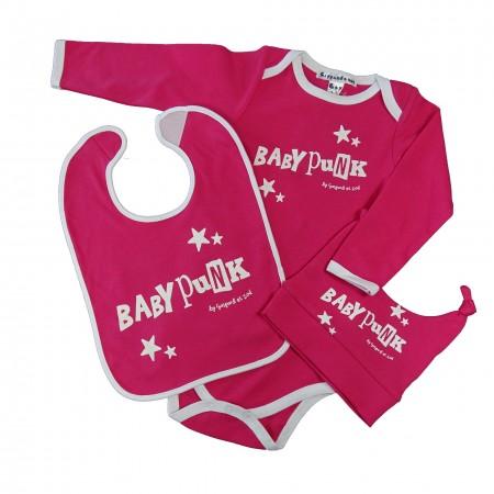 coffret cadeau 3 pièces bébé BABY PUNK