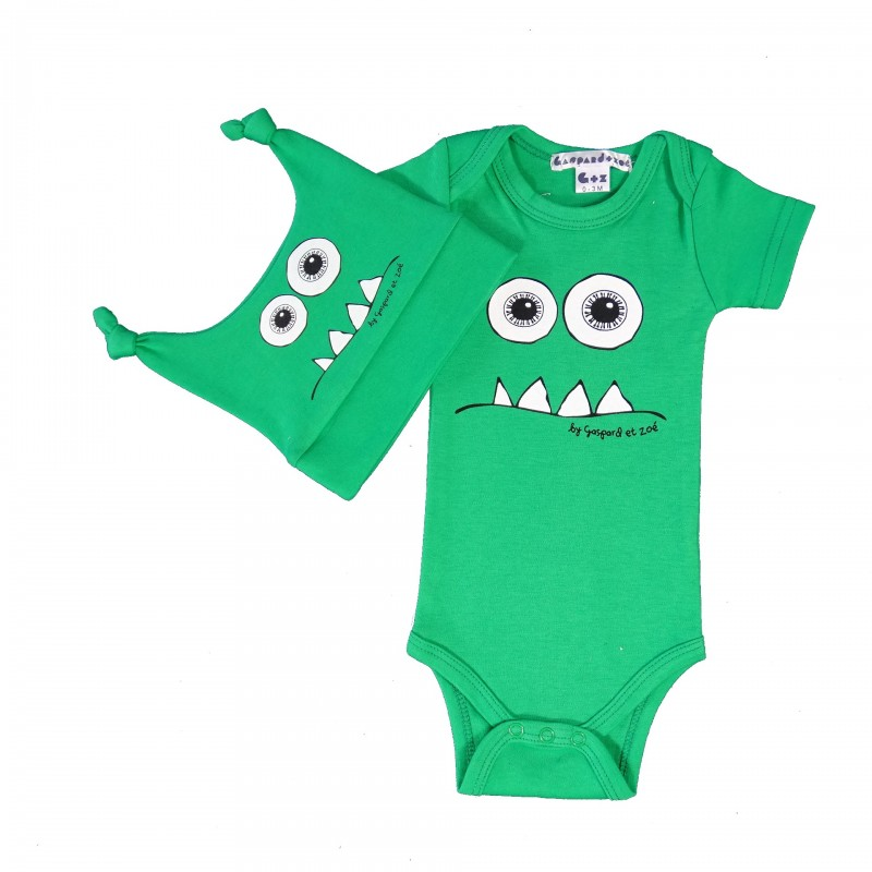 coffret Body+Bonnet  bébé fun Monster