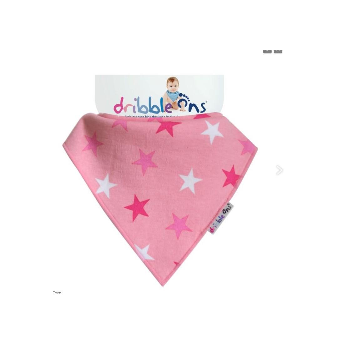 Bavoir bandana - pink stars