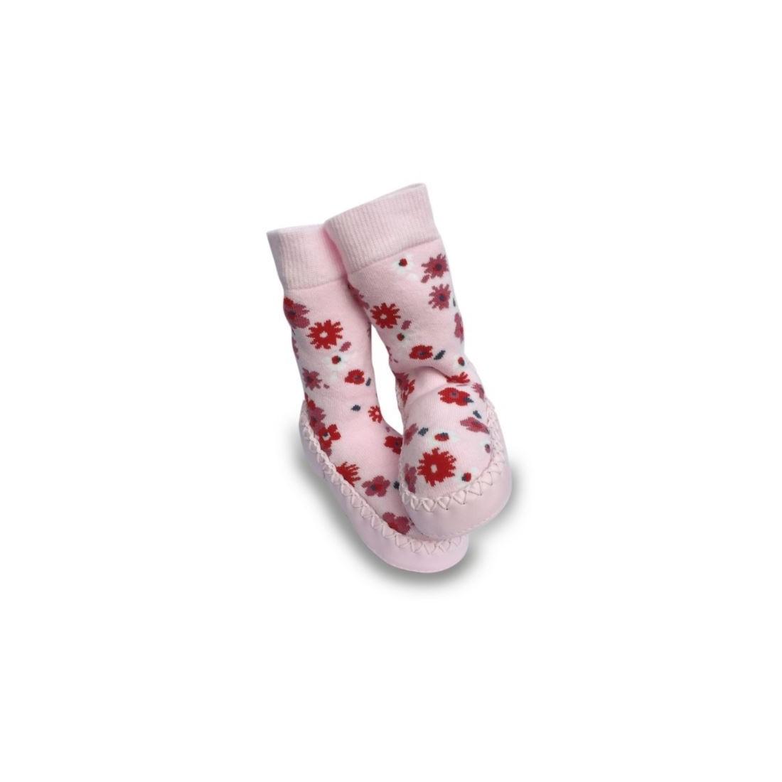 Chaussons bébé fille fleurs ditsy