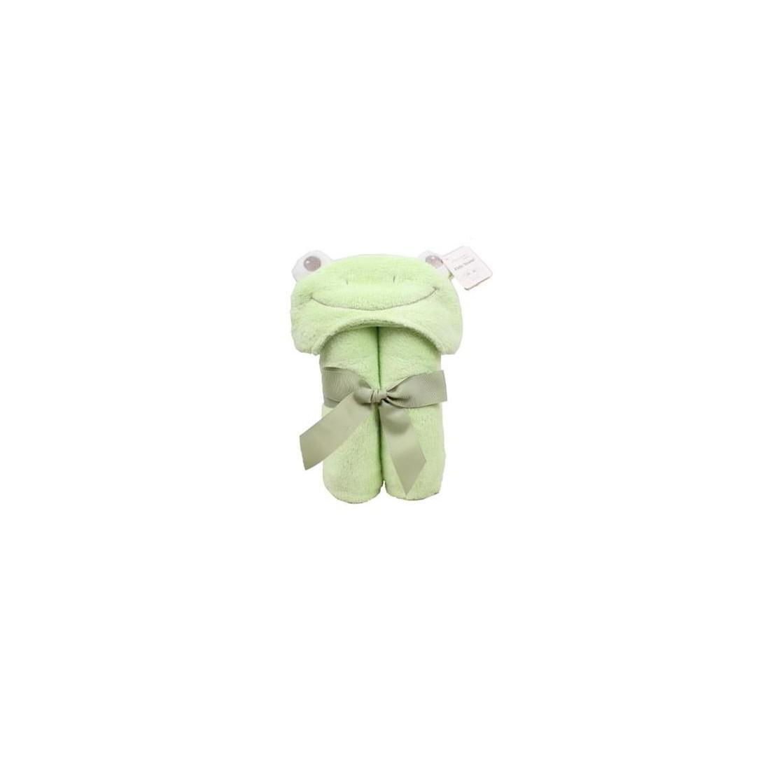 cape de bain grenouille verte