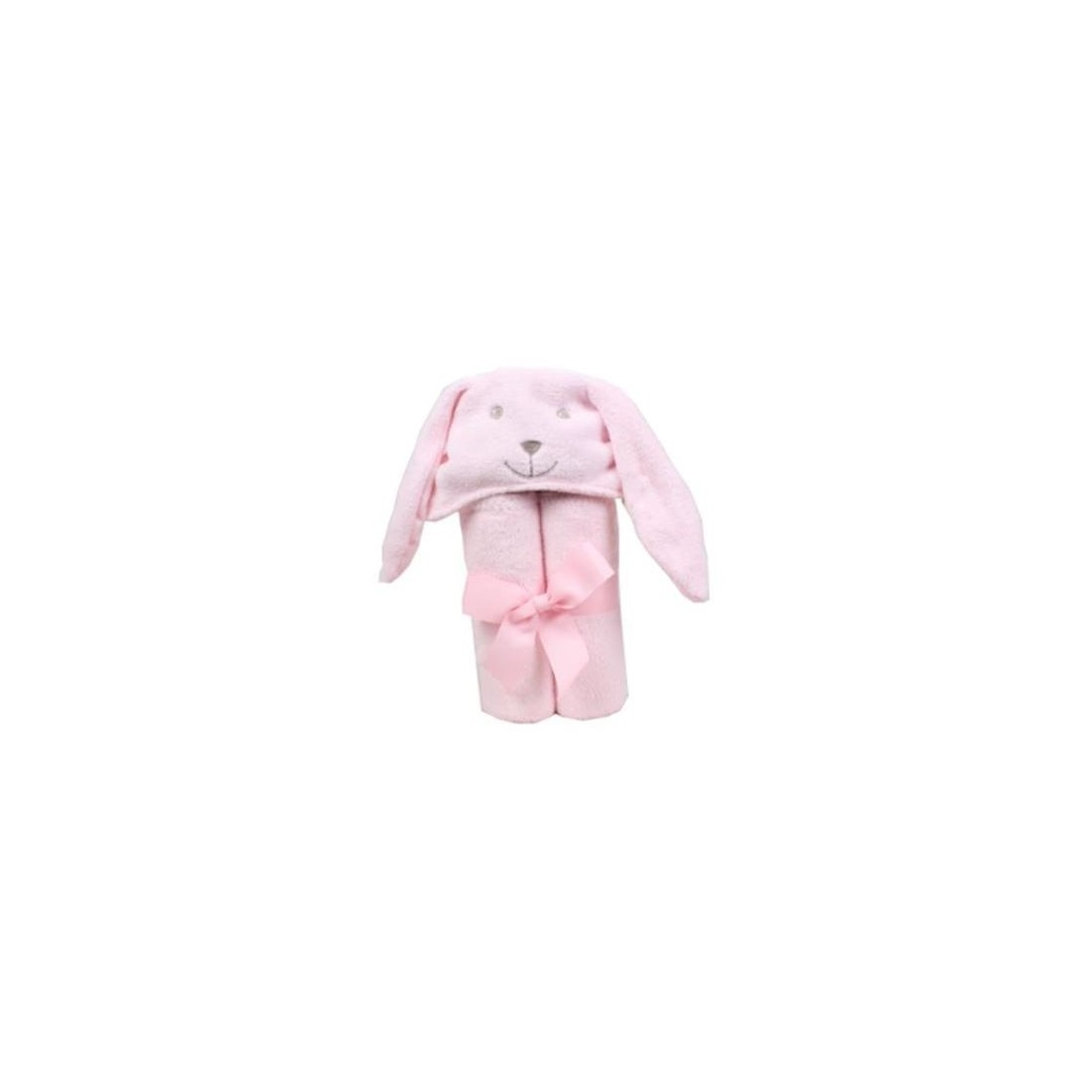 cape de bain lapin rose