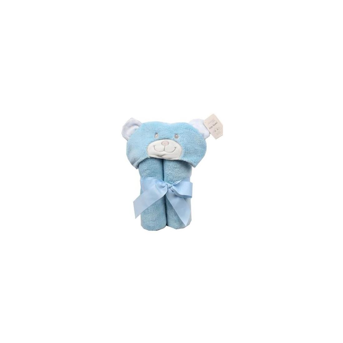 cape de bain ours bleu
