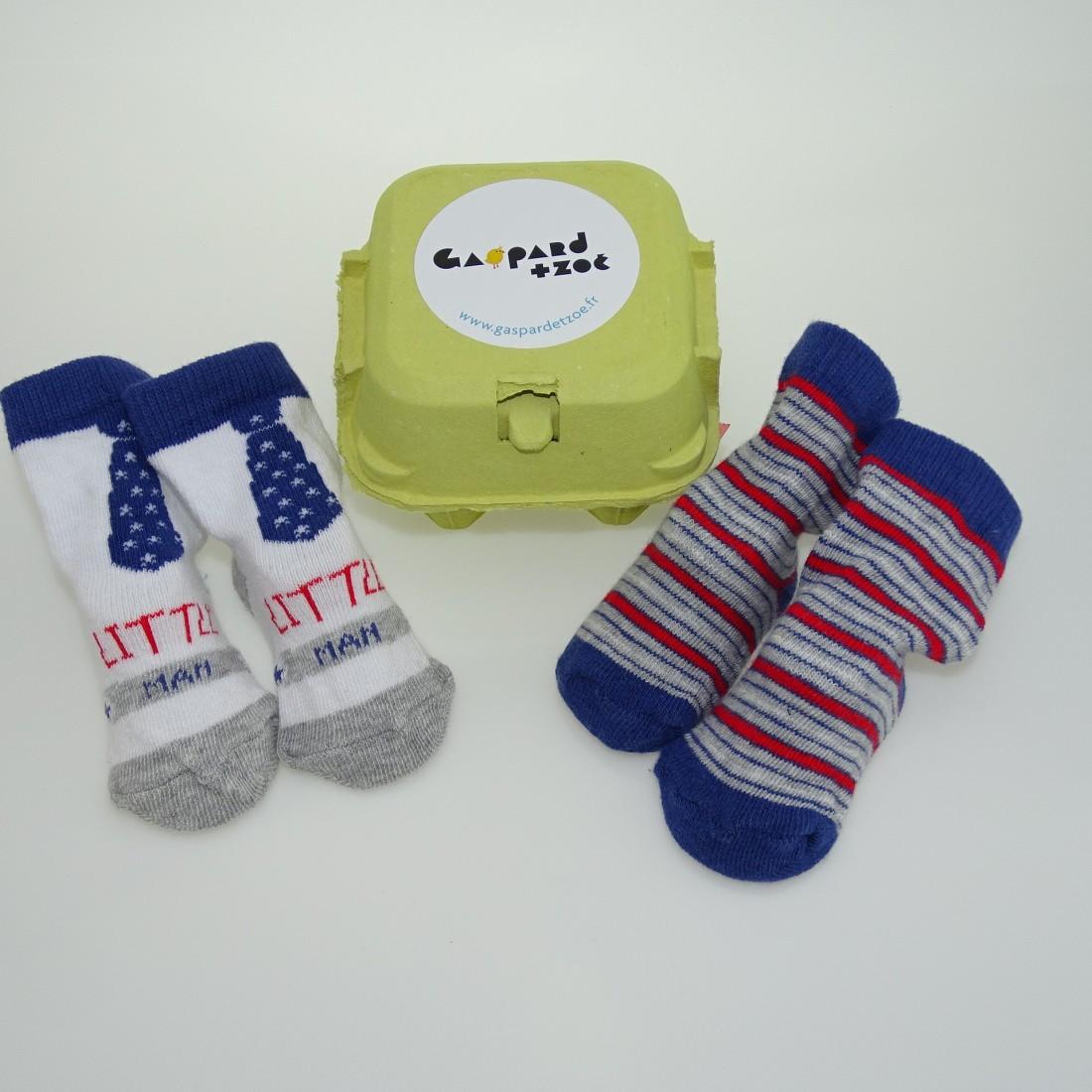 boite à chaussettes cadeau naissance garcon
