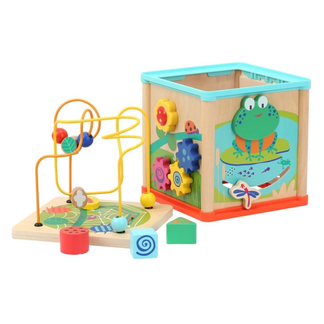 jouet d'éveil jardin cube d'activités