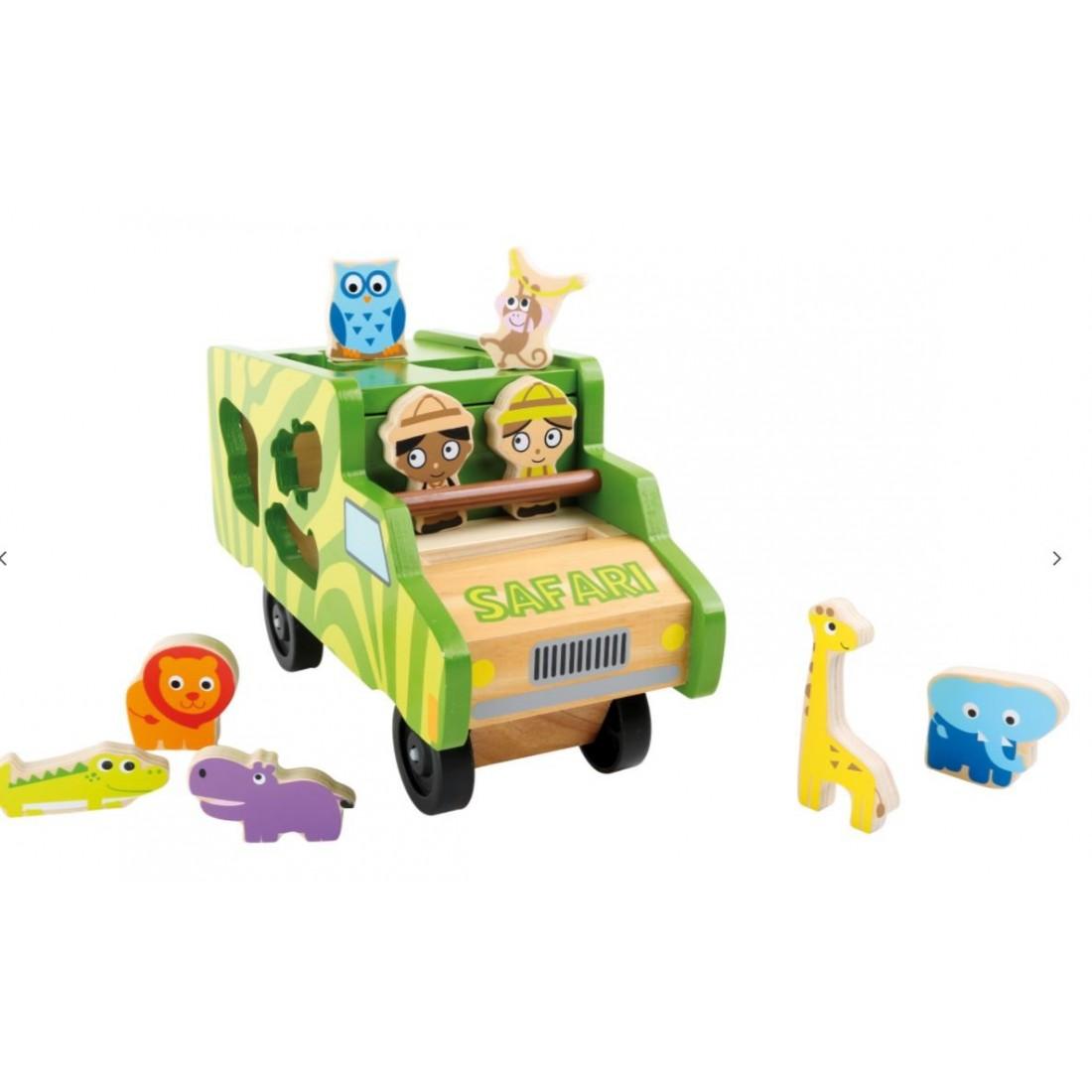 Jouet bébé- bus à encastrer safari