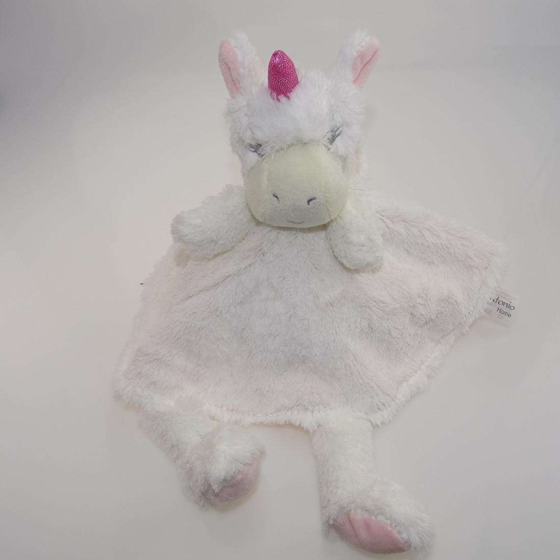 Doudou nouveau né licorne