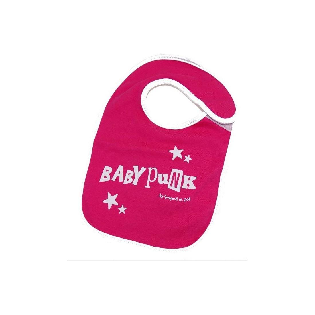 Bavoir bébé rose BABY PUNK
