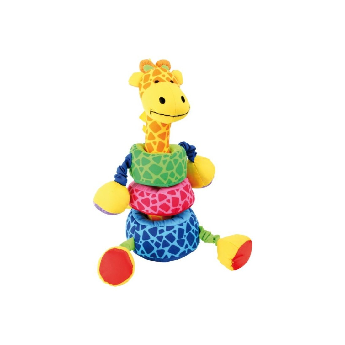 Jouet bébé girafe anneaux à empiler