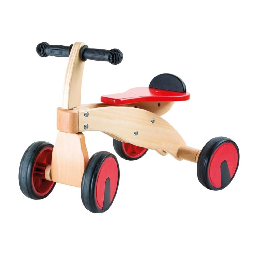 Bolide 3 roues rouge en bois