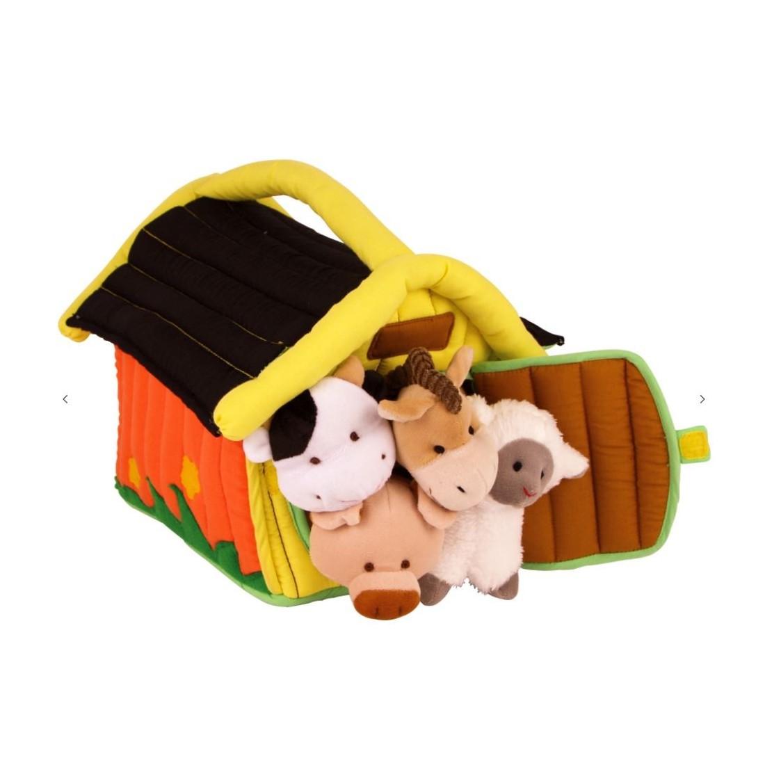 jouet doudou ferme textile
