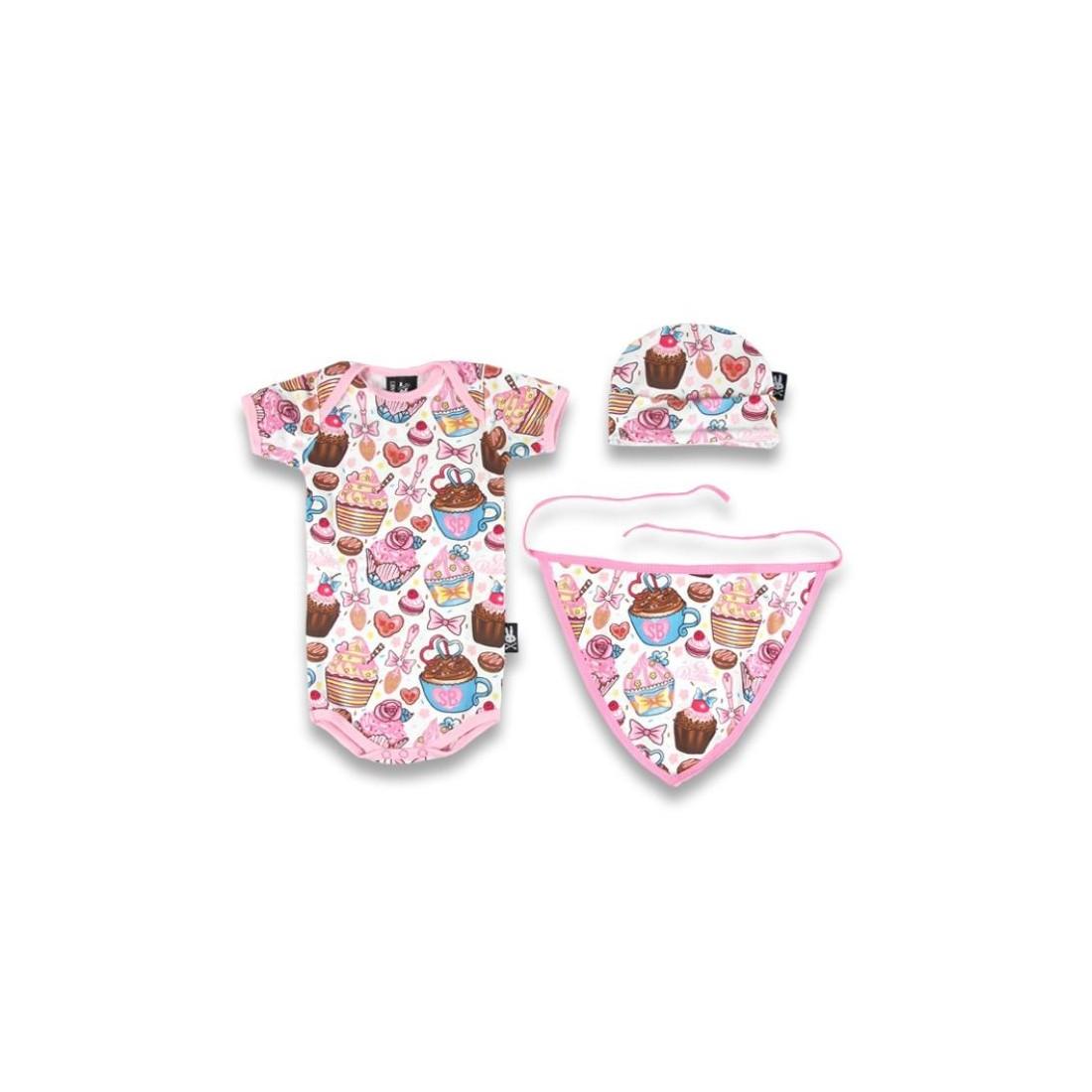 Cadeau de naissance set cupcakes 3 pièces