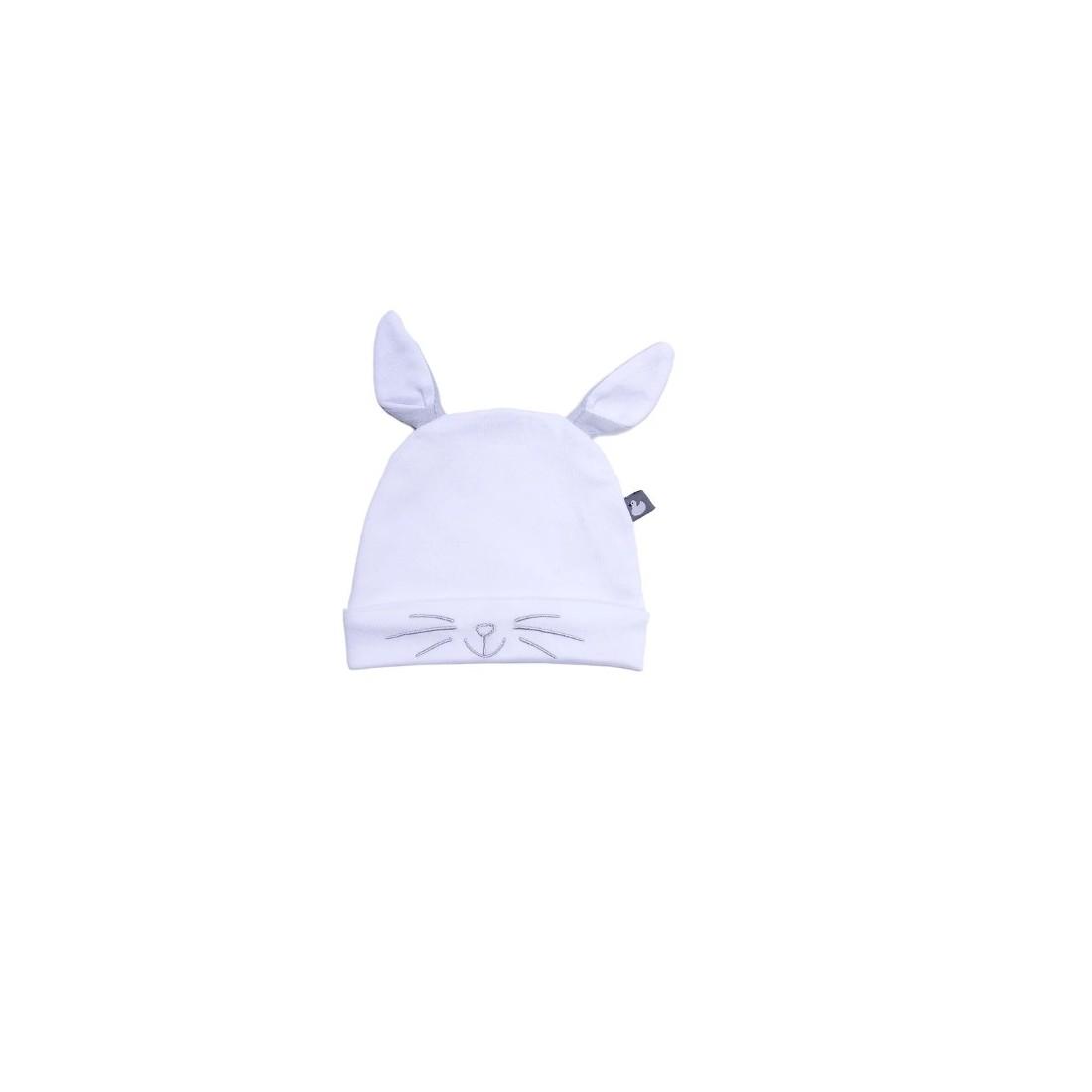 03d362db838e ... Bonnet bébé original chat, lapin ou panda ...