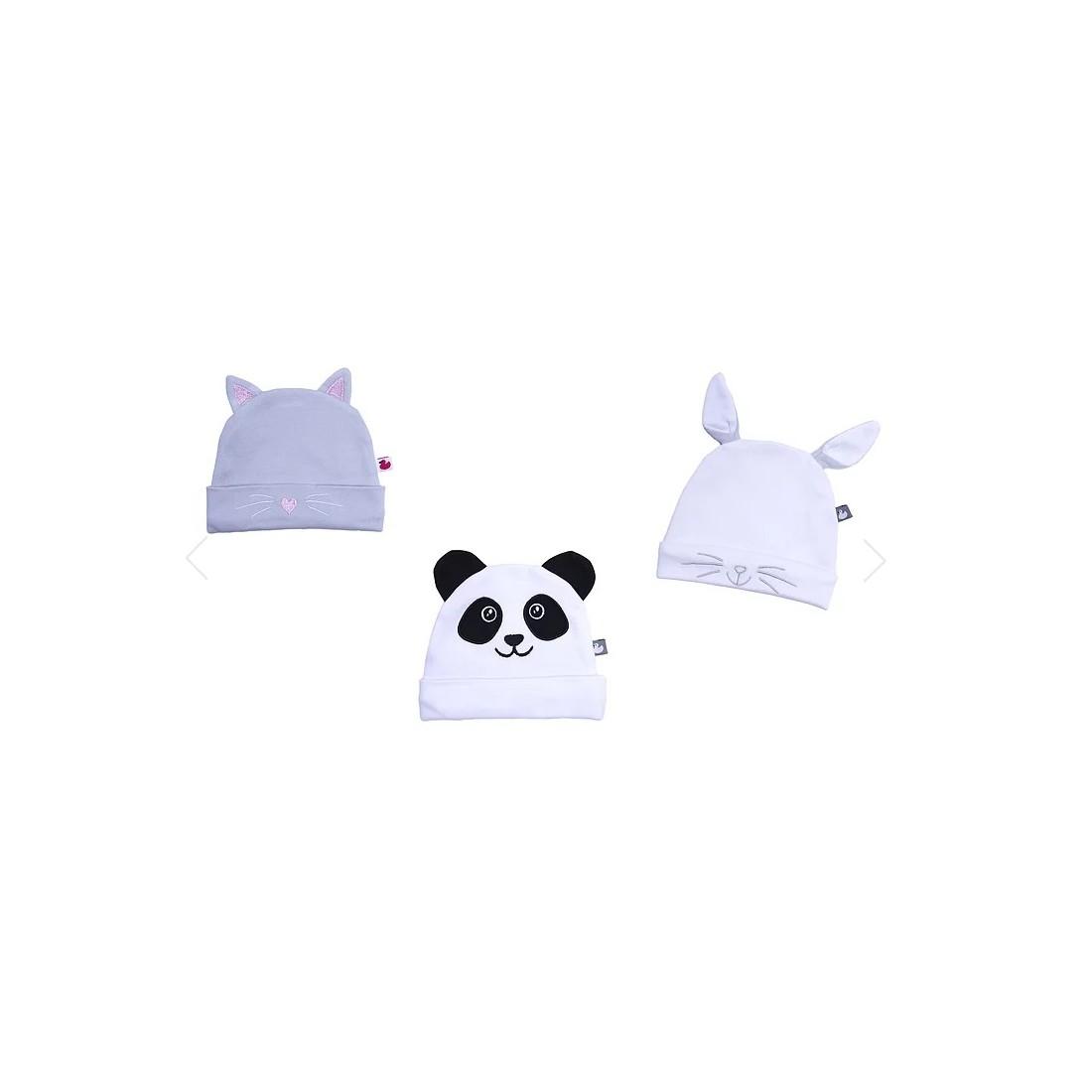 Bonnet bébé original chat, lapin ou panda