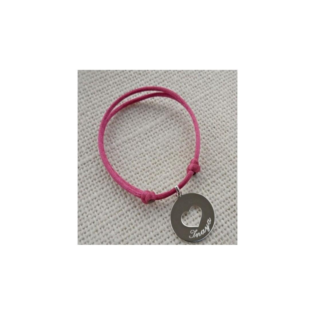 Bracelet femme pendentif cœur en argent