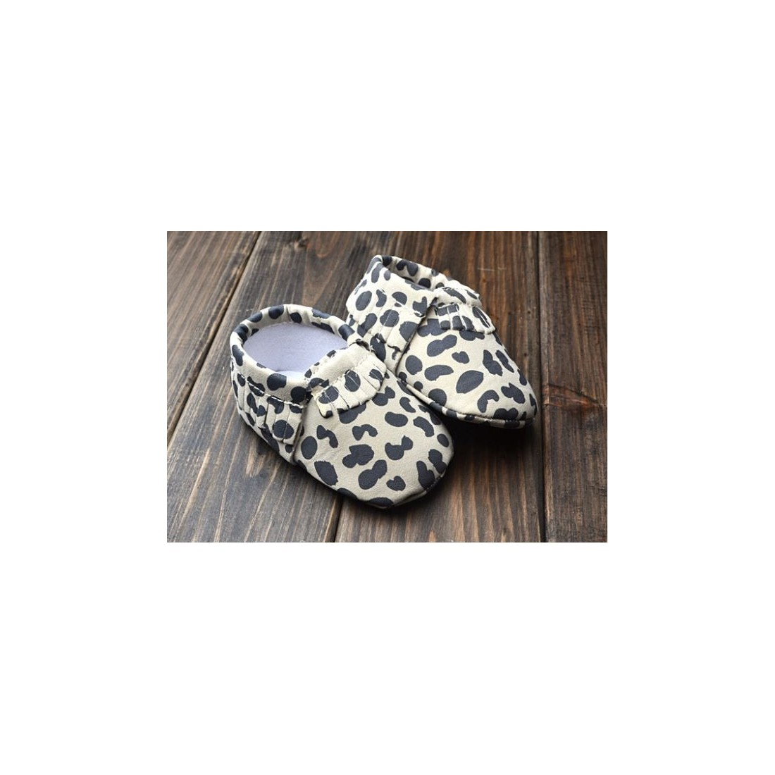 Mocassin bébé léopard