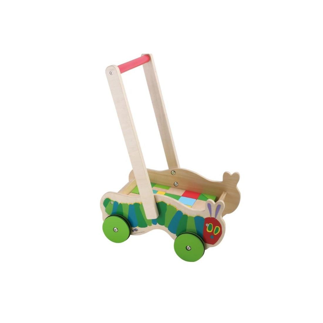 Chariot de marche avec blocs de construction la chenille