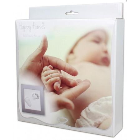 Cadre empreinte bébé 23cm X23 cm